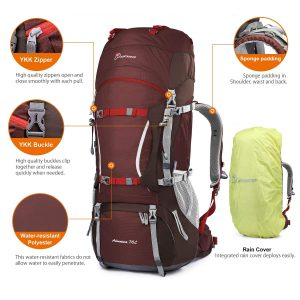 Features of the Mountaintop 70L backpack