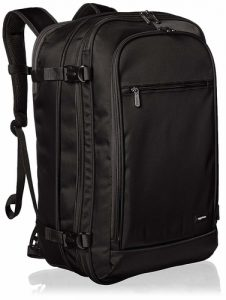 AmazonBasics carry on backpack for your airline travel needs