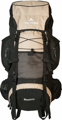 The TETON Sports Scout 3400 backpack is our runner up for the best hiking backpack