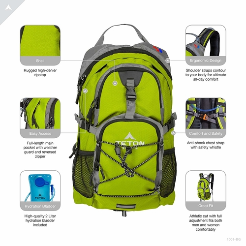 A good 2 liter hydration backpack from Teton Sports