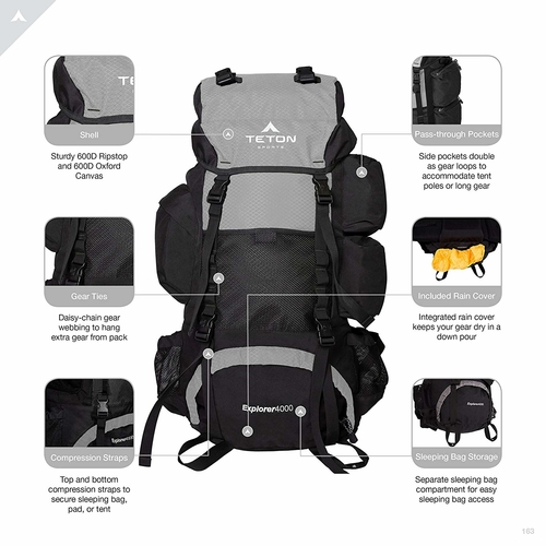 A 65 liter capacity makes the Teton Sports Explorer backpack ideal for those longer hikes and treks