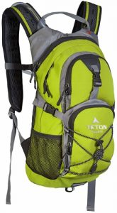 Side view of the Teton Sports Oasis hydration backpack
